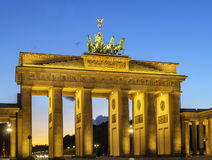 Brandenburg Gate, Berlin. The Brandenburg Gate is a former city gate, rebuilt in the late 18th century as a neoclassical triumphal arch, and now one of the most royalty free stock photography