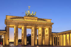 Brandenburg Gate, Berlin. The Brandenburg Gate is a former city gate, rebuilt in the late 18th century as a neoclassical triumphal arch, and now one of the most stock photography