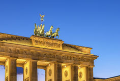 Brandenburg Gate, Berlin. The Brandenburg Gate is a former city gate, rebuilt in the late 18th century as a neoclassical triumphal arch, and now one of the most royalty free stock photos