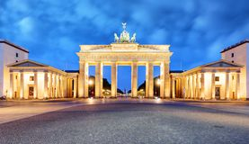 Brandenburg Gate of Berlin, Germany.  royalty free stock photo