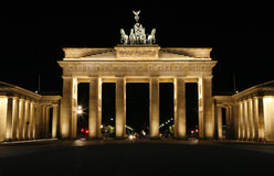 The Brandenburg Gate - Berlin, Germany. Royalty Free Stock Photos