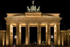 Brandenburg Gate, Berlin, Germany. Night view of the Brandenburg Gate, Berlin, Germany royalty free stock images