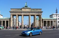 The Brandenburg Gate in Berlin, Germany Stock Photo