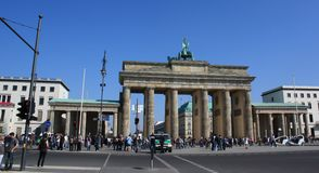 Brandenburg Gate in Berlin, Germany. The Brandenburg Gate in Berlin, Germany, Europe stock image