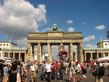 Brandenburg Gate in Berlin, Germany. The Brandenburg Gate in Berlin, Germany, Europe. Perfect Summer day at Berlin stock photography