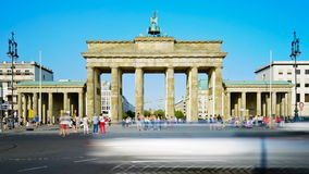 Brandenburg Gate in Berlin, Germany stock video