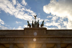 Brandenburg gate, Berlin, Germany. The Brandenburg Gate in Berlin, Germany royalty free stock photography
