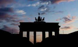 The Brandenburg Gate Stock Photography