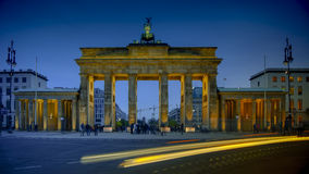 The Brandenburg Gate in Berlin, Germany. The Brandenburg Gate in Berlin in Germany Royalty Free Stock Images
