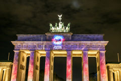 The Brandenburg Gate in Berlin at , Germany. The Brandenburg Gate in Berlin , Germany royalty free stock photography