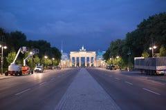 Brandenburg Gate in Berlin. BERLIN. GERMANY - AUGUST 20: Brandenburg Gate in Berlin at night. Germany. August 20, 2013 stock photo