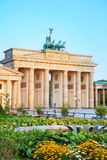 Brandenburg gate in Berlin, Germany. Brandenburg gate Brandenburger Tor in Berlin, Germany at sunrise royalty free stock photography