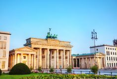 Brandenburg gate in Berlin, Germany. Brandenburg gate Brandenburger Tor in Berlin, Germany at sunrise royalty free stock photo