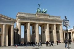 The Brandenburg Gate in Berlin, Germany royalty free stock photography