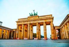 Brandenburg gate in Berlin, Germany. Brandenburg gate (Brandenburger Tor) in Berlin, Germany at sunrise royalty free stock photo