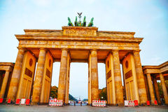 Brandenburg gate in Berlin, Germany. Brandenburg gate (Brandenburger Tor) in Berlin, Germany at sunrise royalty free stock image
