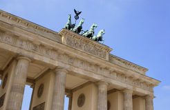 Brandenburg Gate - Berlin - Germany. The Brandenburg Gate in the city of Berlin in Germany. It is a former city gate and is now the only remaining gate of a stock image