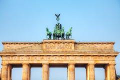 Brandenburg gate in Berlin, Germany. Brandenburg gate close up in Berlin, Germany royalty free stock photo