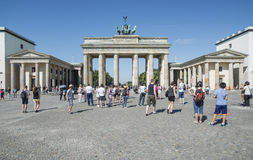 The brandenburg gate berlin germany europe. View of the brandenburg gate in berlin royalty free stock photography