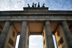 Brandenburg Gate in Berlin, Germany. German people and foreingner travelers walking for travel and visit Brandenburg Gate is 18th-century neoclassical monument stock photos