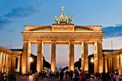 Brandenburg Gate in Berlin, Germany Royalty Free Stock Photos