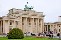 The Brandenburg gate Stock Photos