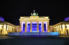 Brandenburg Gate, Berlin Germany. Brandenburg Gate the neoclassical triumphal arch, at night, Berlin Germany royalty free stock photo
