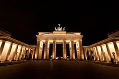 Brandenburg Gate. In berlin , Germany at night royalty free stock images