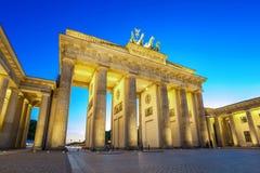 Brandenburg Gate - Berlin - Germany. Brandenburg Gate at night - Berlin - Germany stock photo