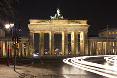 Brandenburg Gate - Berlin. Brandenburg Gate, Berlin, Germany by night - long exposure royalty free stock image