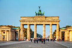 Brandenburg gate in Berlin, Germany Stock Images