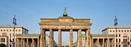 Brandenburg gate, Berlin Germany. Panorama of Brandenburg gate, Berlin, Germany Stock Photo