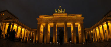 Brandenburg gate in Berlin, Germany. Panorama of Brandenburg gate in Berlin, Germany royalty free stock photography