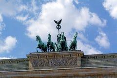 Brandenburg gate in Berlin, Germany. Quadriga on the Brandenburg gate (Brandenburger Tor) in Berlin, Germany stock image