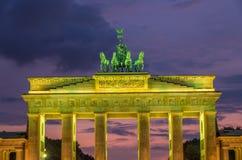 Brandenburg Gate. Berlin, Germany. Brandenburg Gate in Berlin during sunset royalty free stock photography