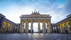 Brandenburg Gate in Berlin, Germany (Time Lapse) stock video footage