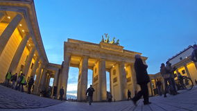 Brandenburg Gate in Berlin, Germany (Time Lapse) stock video