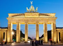 Brandenburg Gate, Berlin Germany Stock Photos