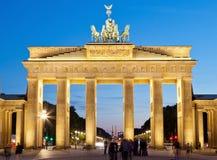 Berlin Brandenburg Gate. Brandenburg gate of Berlin, Germany at twilight time stock photos