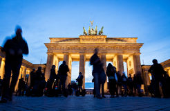 Brandenburg Gate in Berlin, Germany. It was built between 1788 and 1791 and now is the most famous and well-known landmarks of Germany royalty free stock images