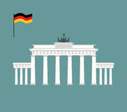 Brandenburg Gate in Berlin. landmark of Germany. Architecture at. Traction of country. Vector illustration royalty free illustration
