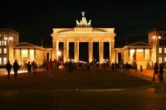 Brandenburg gate. AT BERLIN ON 08/25/2013 - Brandenburg gate at night royalty free stock photos