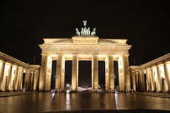 Brandenburg Gate in Berlin at night. Brandenburg Gate in the capital of Germany Berlin at night stock image