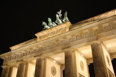 Brandenburg Gate in Berlin at night. Brandenburg Gate in the capital of Germany Berlin at night Stock Photo