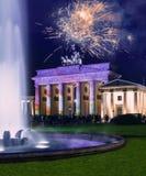 Brandenburg Gate in Berlin at night Royalty Free Stock Photo