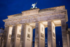 Brandenburg Gate in Berlin. Brandenburg Gate in Berlin at night. Germany stock photography