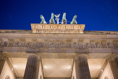 Brandenburg Gate in Berlin. Brandenburg Gate in Berlin at night. Germany stock images