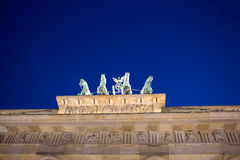 Brandenburg Gate in Berlin. Brandenburg Gate in Berlin at night. Germany stock photo