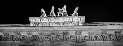 Brandenburg Gate in Berlin. Brandenburg Gate in Berlin at night. Germany royalty free stock photos