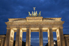 Brandenburg Gate; Berlin at Night. Brandenburg Gate; Berlin; Germany; Europe Illuminated at Night royalty free stock images